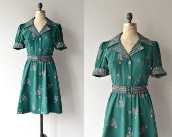 Little Baba dress | vintage 1970s dress | cotton 70s shirt dress