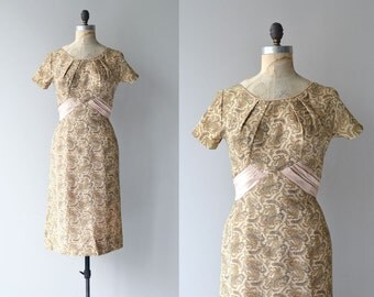 Luxelle dress | vintage 1950s dress | lurex 50s cocktail dress