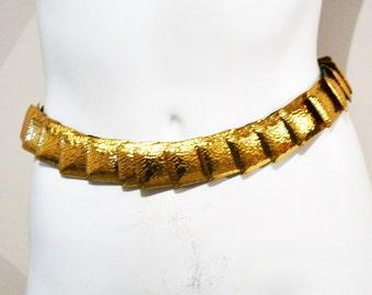 Vintage Belt Gold Stretch