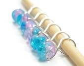 Stitch Markers for Knitting - Cotton Candy Infinity Ring - Stitch Markers - Small, Medium, Large, or XL