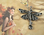 Dancing Jeweled Spring Fairy pewter pendant charm lead safe - jewel cavity for stones of your choice 2pc