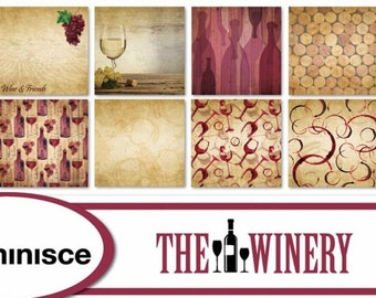 Reminisce The Winery Scrapbook Papers - Individual or Set | 12x12 | Vineyard Wine Scrapbooking