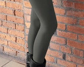 Bamboo Fleece Leggings - Grey