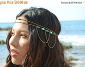CLEARANCE SALE Chain Headpiece Boho Head Jewelry Bohemian Headband Headdress Gypsy Jewelry Chic Bohemian  Hair Jewelry SerenaHP