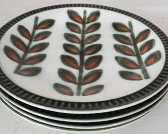4 BOCH Rambouillet lunch plates / Belgium midcentury 70s vintage side plate / scandinavian design / mid century servingware /set of 4 plates