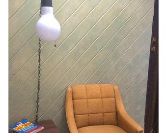 MOD Giant Light Bulb Hanging Pendant Lighting Fixture Lamp Vintage 1960s 1970s