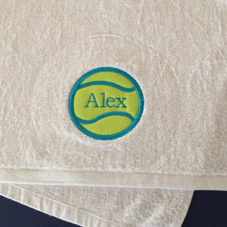16 X 11 Sweat Towel: Tennis Sweat Towel Personalized 16 X 27