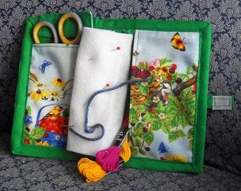 Summer Birds Needle Book, Needle Case, Hand Sewing Organizer