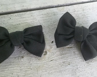 Bluette Shoe Clips Bow Black