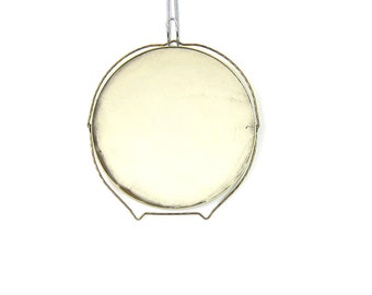 Gold folding vintage mirror Bathroom Round Circle Wall Hanging Magnifying shaving mirror Retro Home Decor DELLS