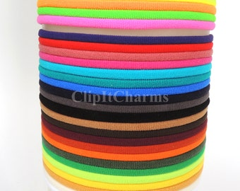 Wholesale...Mixed Bag of colors..Stretch Chokers...Use for bottle cap jewelry,pendants,charms, headbands/doubles as a bracelet or anklet....