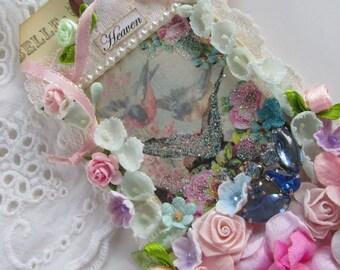 Handmade Gift Tag Floral Hang Tag Bridal Tag Vintage Wedding Tag Religious Gift
