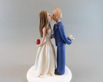 Wedding Cake Topper - Customized Bride Kissing Groom