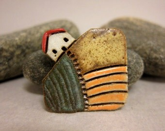 MyLand - Rye and Wheat - Collectible 3x3 cm or 1.2x1.2 in. puzzle in stoneware
