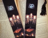 Crystal Candelabra Candles Skull Gothic Scary Spooky Photo Halloween Bookmark