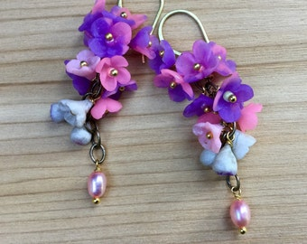 Tropical bouquet (polymer clay earrings)