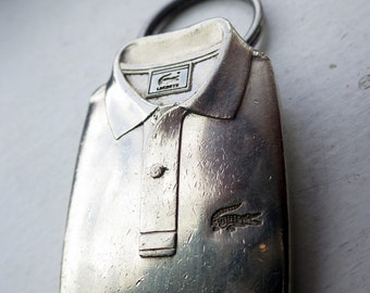 Lacoste Silver Keychain - Vintage - PREPPY