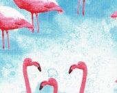 Pink Flamingos Table Runner and Reversible Napkins