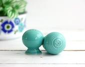 Vintage Turquoise Fiestaware Salt and Pepper Shakers