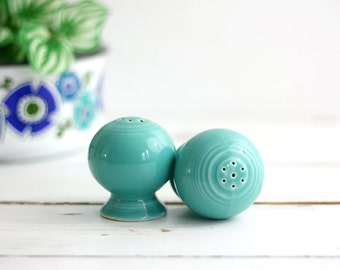 Vintage Turquoise Fiestaware Salt and Pepper Shakers