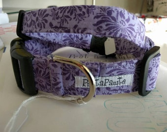 Dog Collar: Floral purple