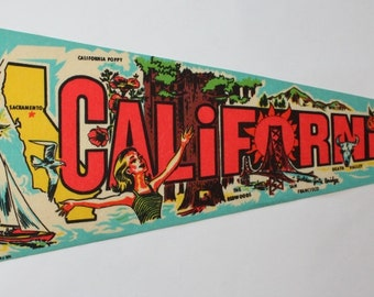 Vintage Felt Pennant for California, 1974