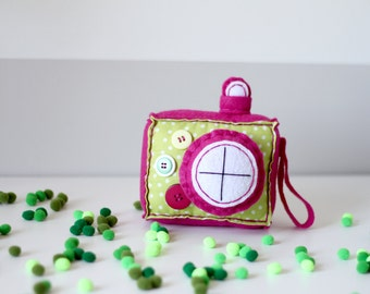 Lucky Lime Plush Camera