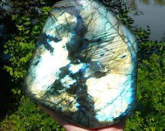 Extra Large Stand Up Polished Labradorite Specimen ~ Rainbow, Healing Stone, Metaphysical, Genuine Labradorite, Natural, African, Unique