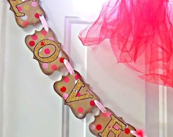 Valentines Day-Valentines Day Sign-Love Is Sweet Banner-Valentines Day Party-Valentine Party Decor-Valentines Garland-Rustic Valentines