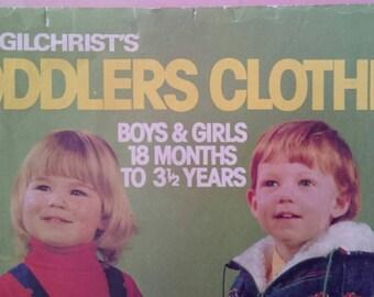 Enid Gilchrist Toddler Clothing Patterns Magazine Vintage 1970s