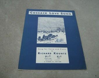 1933  vintage sheet music (  Cossack love song  ) Richard Kountz