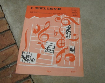 1953  vintage sheet music (  I Believe )