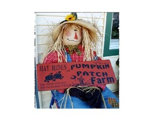 Hay Rides at Pumpkin Patch farms wood sign