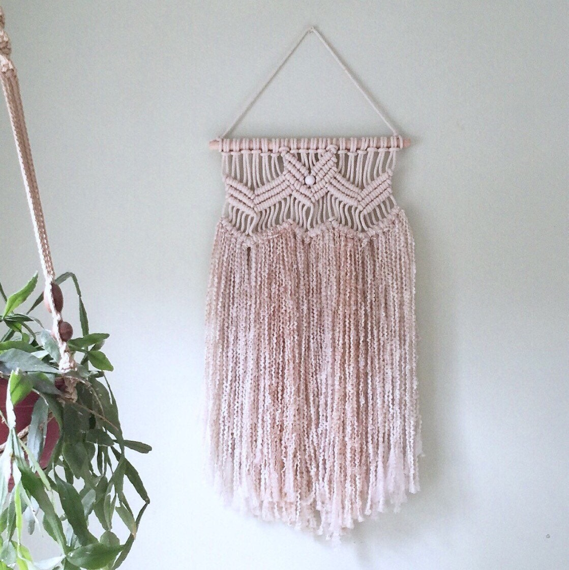 macrame with yarn cotton yarn macram 233 wall hanging by mymacramania on etsy 6627
