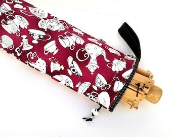 Yarn Swift Cover Yarn Winder Drawstring Padded Bag - Tea Time
