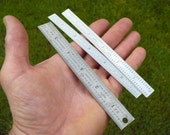 Small Steel Rulers - Set of 3 - FREE SHIPPING