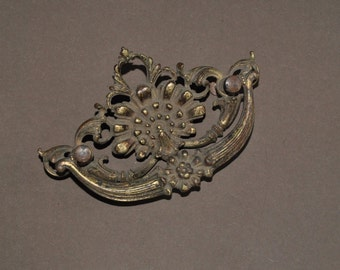 Antique Cast Brass Drawer Handle Large Size AR Co.