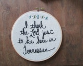 the Tennessee hoop ... one of a kind, Everybodyfields embroidery