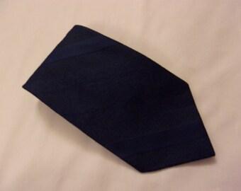 Necktie, Vintage necktie, Clip on Necktie,  Blue Necktie, Blue Tie, wide tie, man's vintage tie
