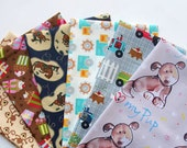 FAT QUARTER Bundle - Kids Fabrics, Designer Cotton Quilt Fabric, Quilting Fabric, Fat Qtr (#71)