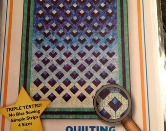 Refections quilt pattern strip piecing