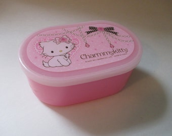 Sanrio Charmmy Kitty Cat Plastic Box Container Small Pink