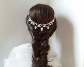 Pearl Hair Jewelry Bohemian Headpiece Wedding Hair Chain Rhinestone