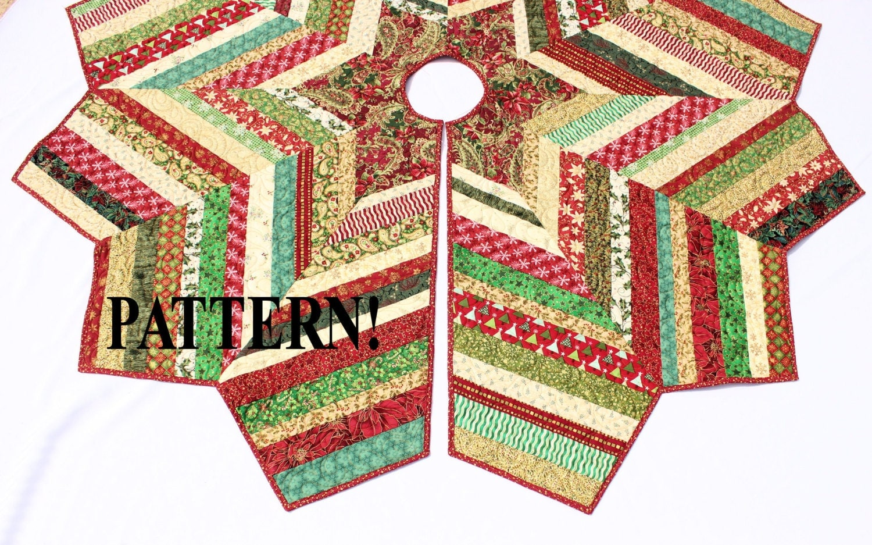 christmas tree skirt pattern country strings tree skirt. Black Bedroom Furniture Sets. Home Design Ideas