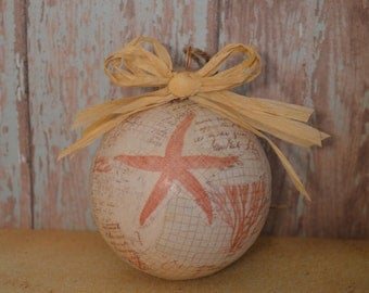 Beach Ornament, Christmas Ornament, Starfish Ornament, Beach Decor, Coastal Christmas Decor