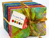 ON SALE Aurora Moda Batik Fat Quarter Fabric Bundle - 40 FQ