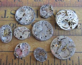 Featured - Steampunk supplies - Watch movement parts - Vintage Antique Watch parts Steampunk - Scrapbooking r6