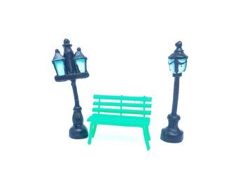 2 Little Street Lamp / Miniature Lantern/ Terrarium Accessories/ Tiny Street Lamp/ Fairy Garden Accessories/ Dollhouse accessories/
