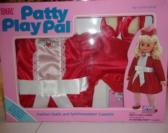Patty Play Pal Party Dress and Cassette by Ideal