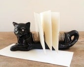 Large Vintage Cat Mail Organizer, Kitch Desk Accessory